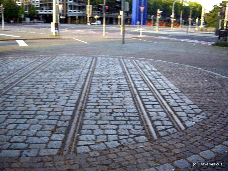 Dual-gauge railway in Karlsruhe, Germany