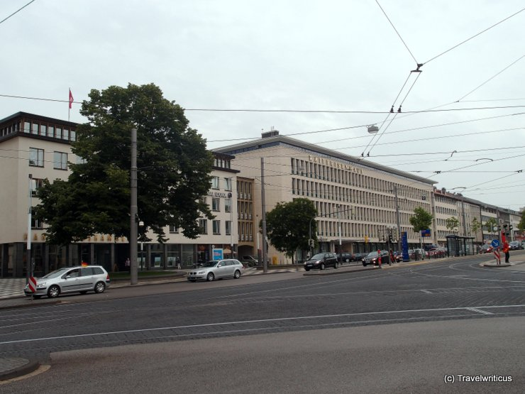 Architecture of the 50ties in Kassel, Germany