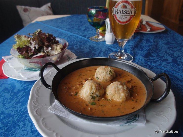 Mushroom pan in Klammstein, Austria