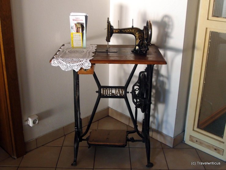 Sewing machine at Hotel Klammstein