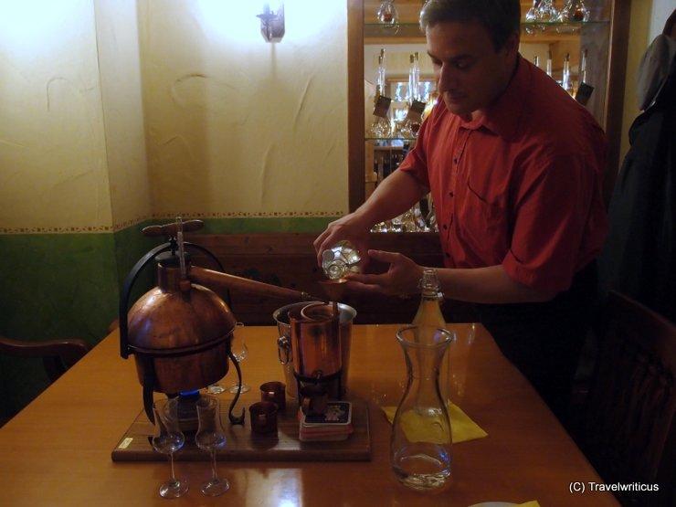Distilling schnaps in Kukmirn, Austria