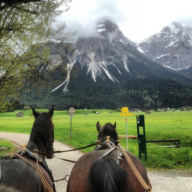 Coach trip in Lermoos, Austria