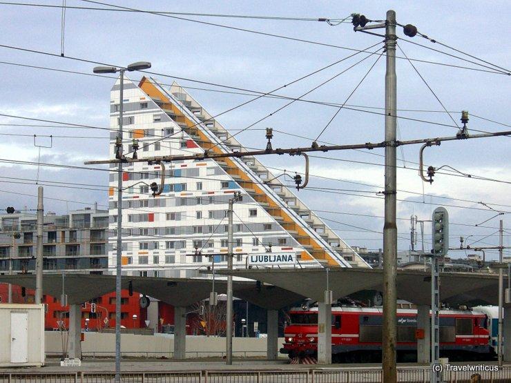 Apartment tower at Ljubljana Railway Station