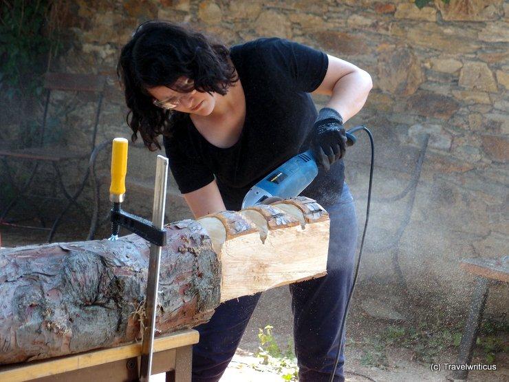 Chain saw art at Lockenhaus Castle, Austria