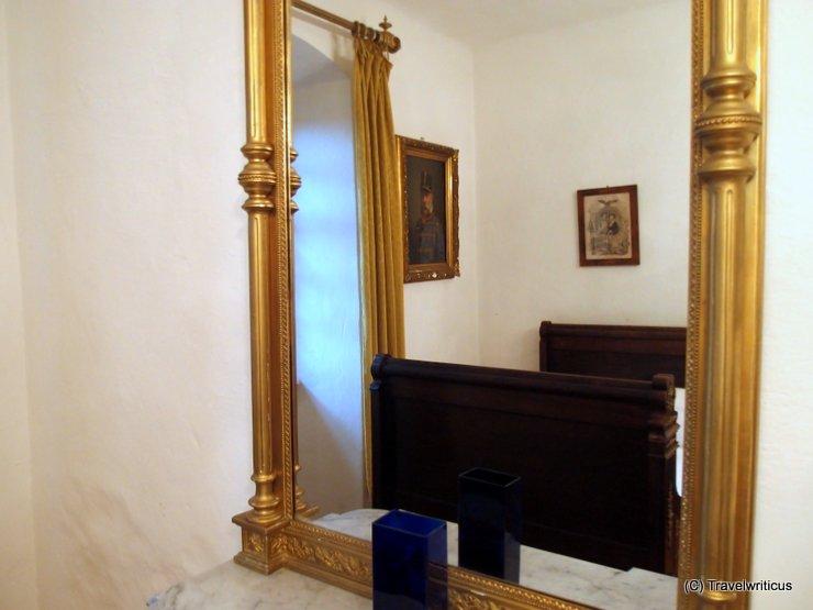 Mirror at room Elisabeth at Lockenhaus Castle, Austria