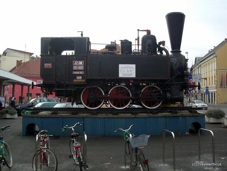 Steam locomotive JŽ 151-001 in Maribor, Slovenia