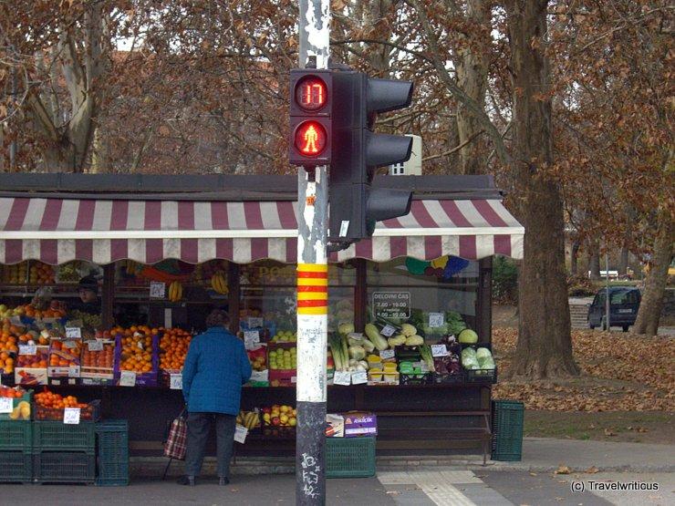 Traffic lights in Maribor, Slovenia