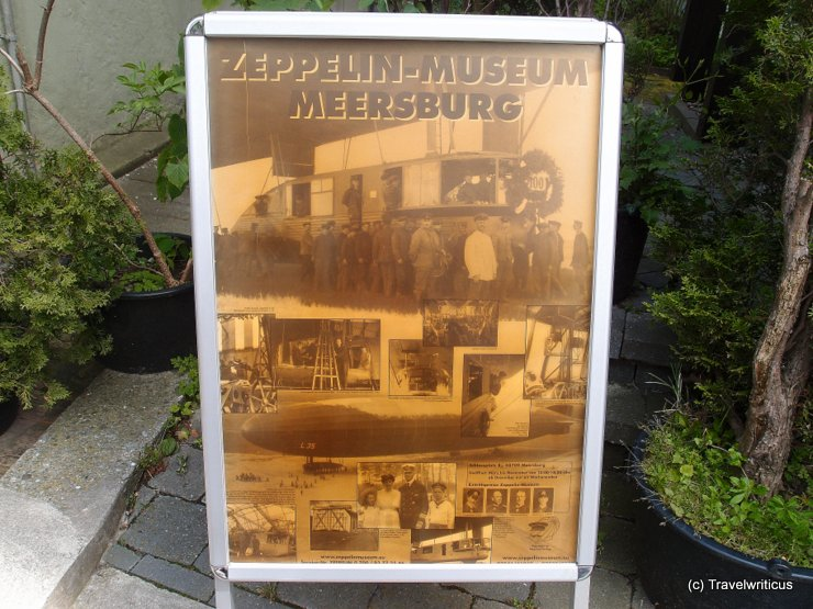 Poster of the Zeppelin museum in Meersburg, Germany