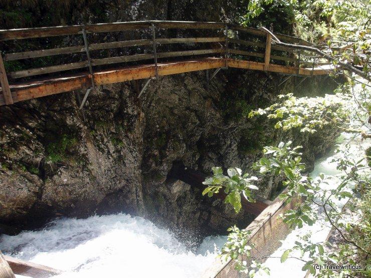 Stream in full spate at Mendlingtal, Austria