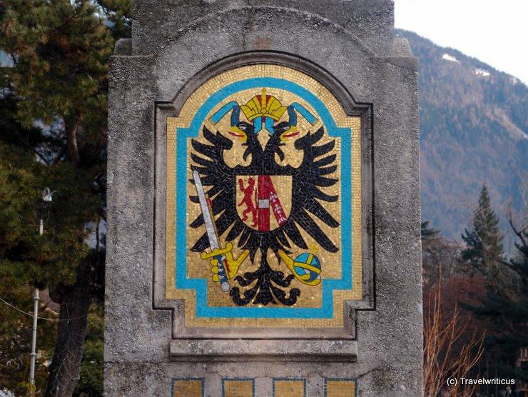 Emblem of Habsburg family in Merano, Italy
