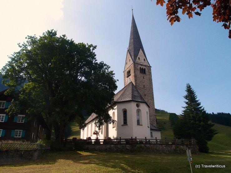 Church Sankt Jodok in Mittelberg, Austria