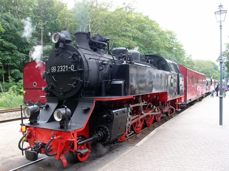 Steam locomotive 99 2321-0 (1932) in Mecklenburg, Germany