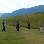 Saxofour playing in Hollenstein, Austria