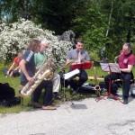 Saxofour playing in Mostviertel, Austria