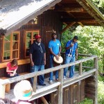 Trio Insingizi singing in Mostviertel, Austria