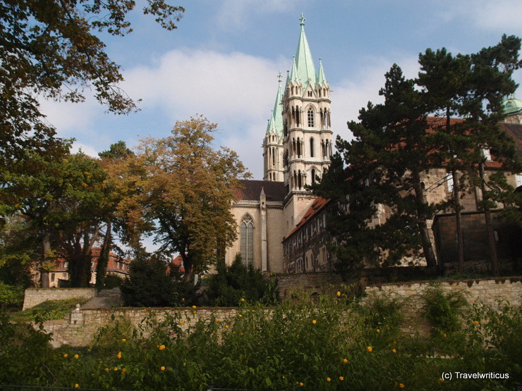 Garden of the Naumburg Cathedral in Saxony-Anhalt, Germany