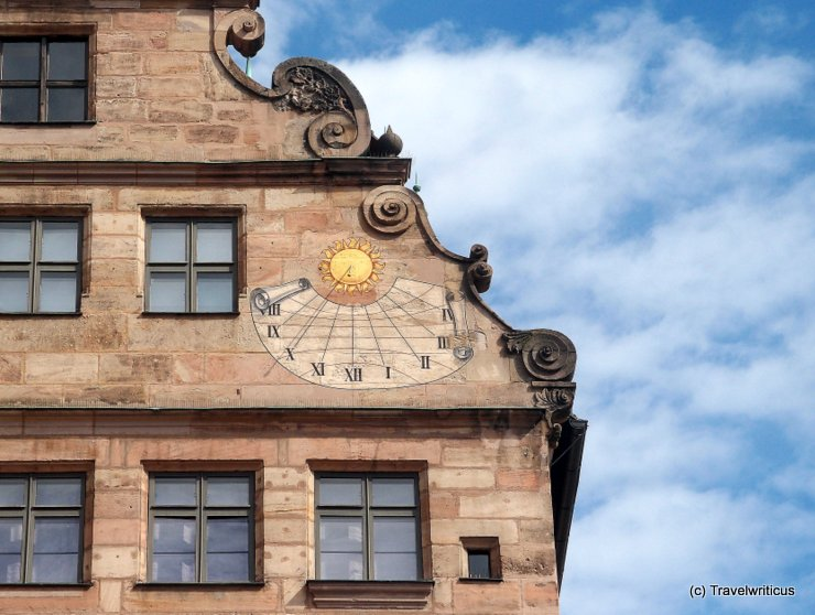 Sundial at the Fembohaus of Nuremberg, Germany