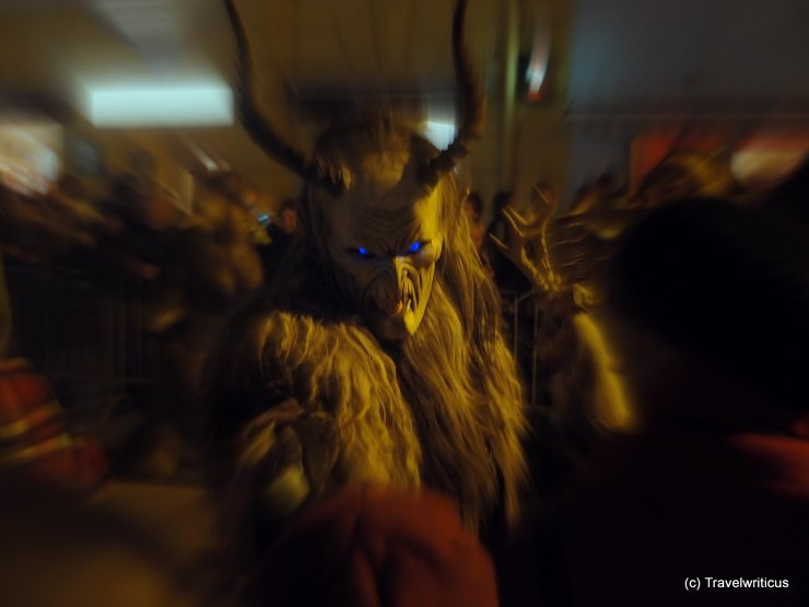 Perchte at a Perchtenlauf in Judenburg, Austria