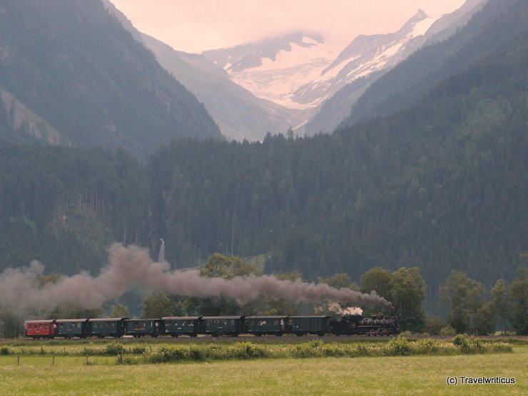 Steam train in Pinzgau, Austria