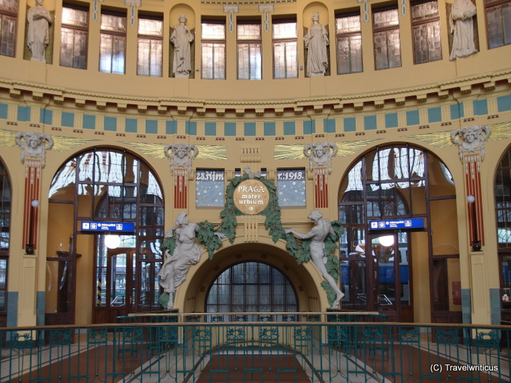 Art Nouveau station hall in Prague