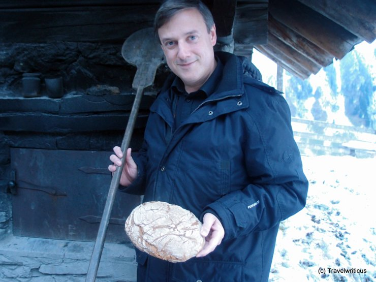 Baking bread at Rauris, Austria