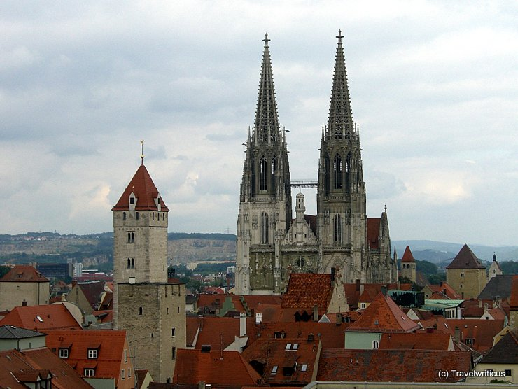 Roof landscape of Regensburg, Germany