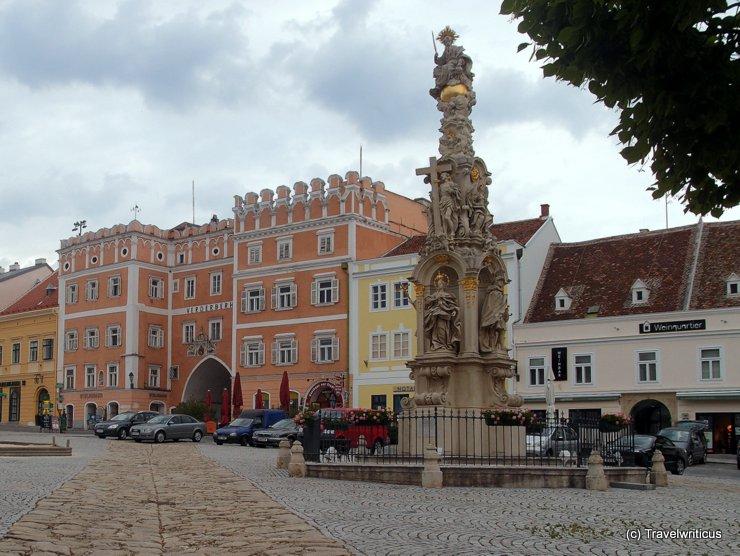 Holy Trinity column in Retz, Austria