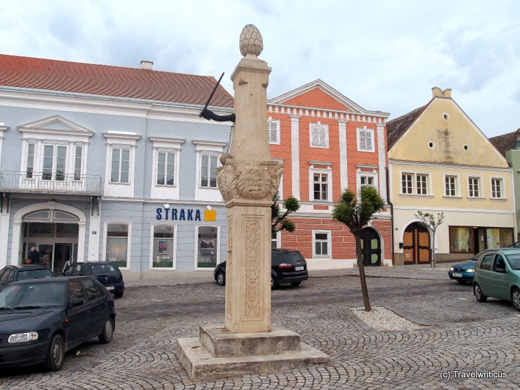 Pillory at the main square of Retz