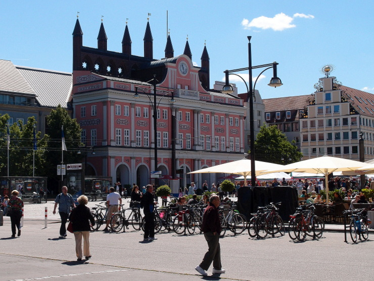 City hall of Rostock, Germany