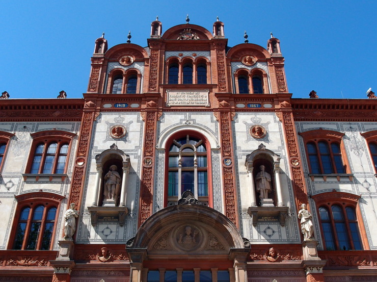 Main building of the Rostock University in Germany