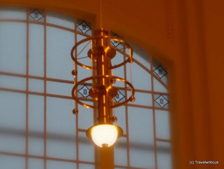 Vintage lamp at Salzburg central station