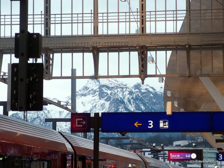 Mountains at Salzburg Central Station