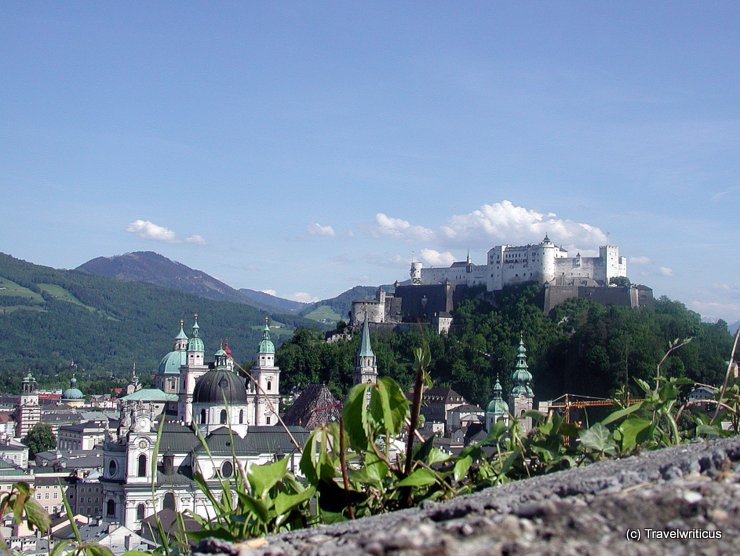 View of Salzburg from Mönchsberg, Austria