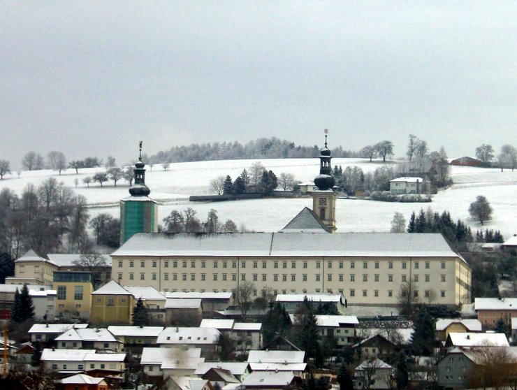Schlierbach Abbey in winter