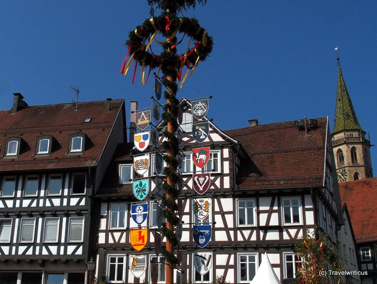Maypole in Schorndorf, Germany