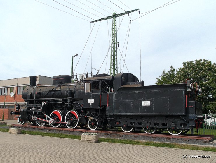 Steam locomotive GySEV 324,1518 in Sopron, Hungary