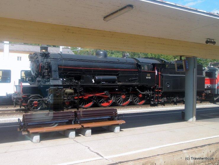 Steam locomotive 33.132 in Mürzzuschlag, Austria