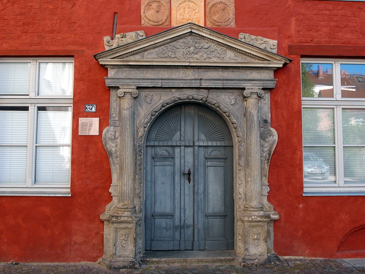 Renaissance portal in Stralsund, Germany