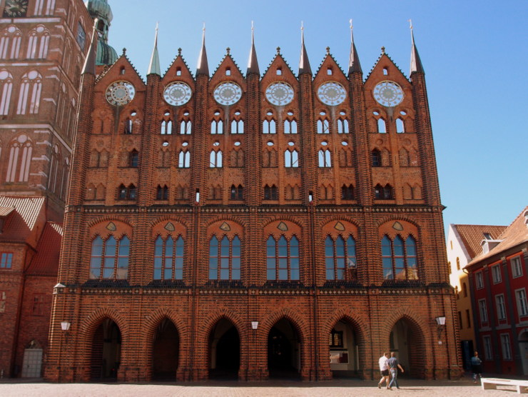 Gothic town hall in Stralsund, Germany