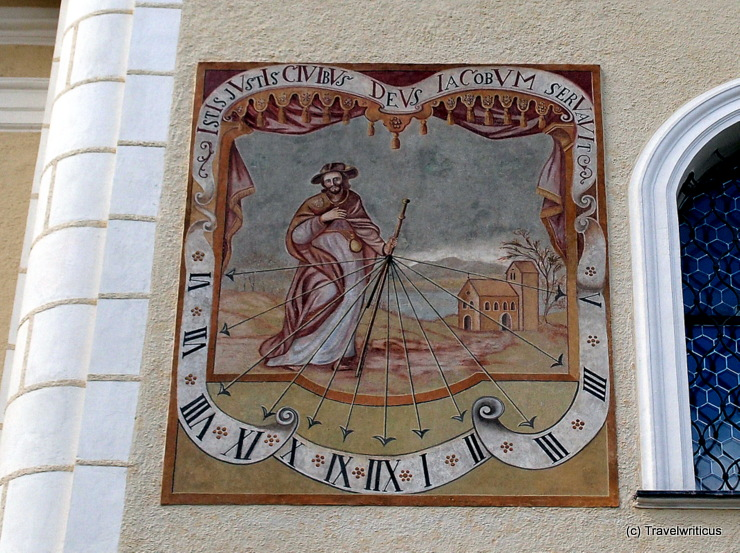Sundial at the parish church of Tamsweg, Austria