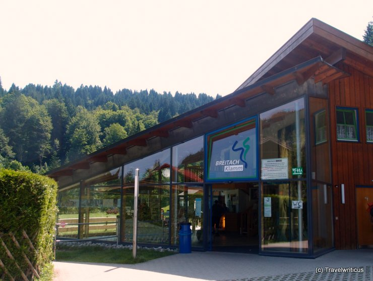 Exhibition hall at the Breitachklamm in Tiefenbach, Germany