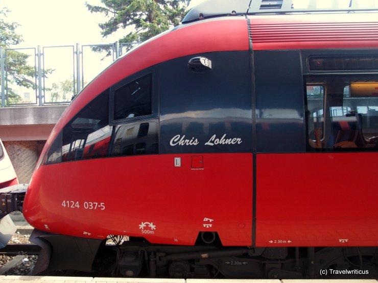 An Austrian train named after Chris Lohner