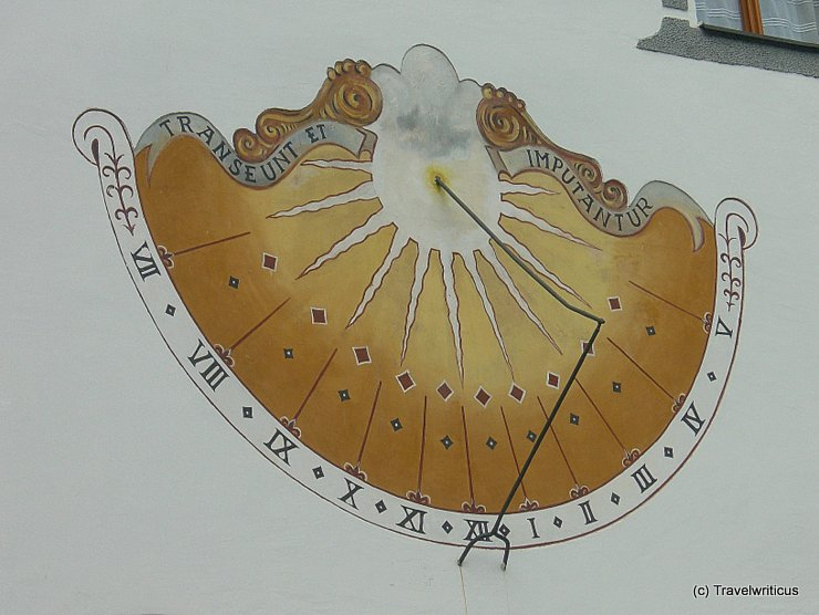 Sundial in Traunkirchen, Austria