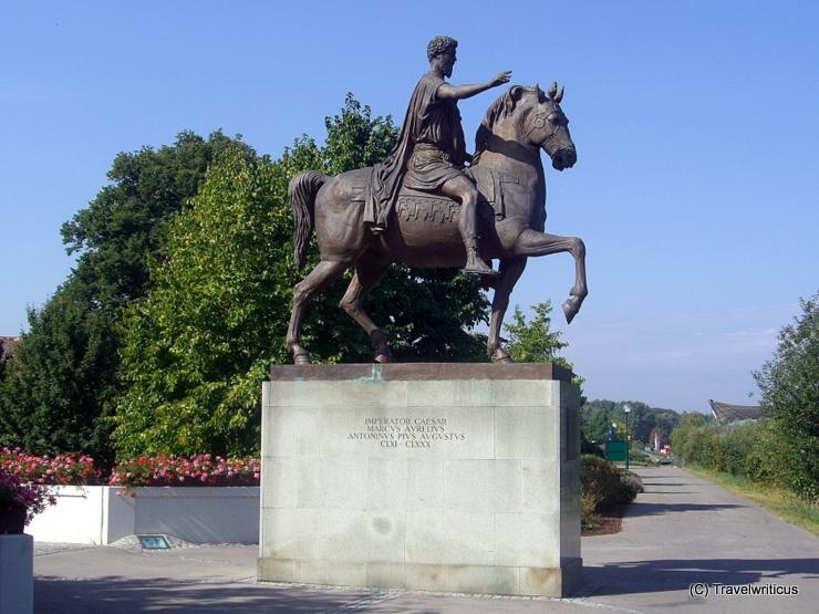 View of the Marc Aurelius equestrian statue