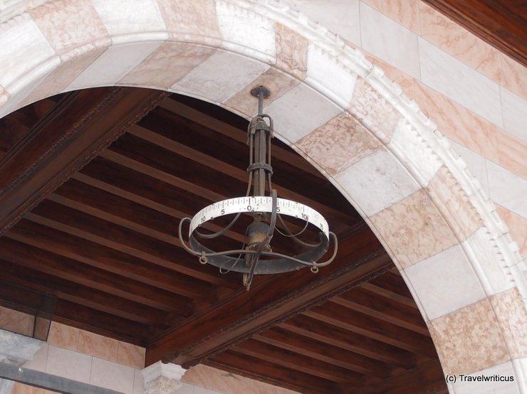 Thermometer at the Loggia del Lionello in Udine, Italy