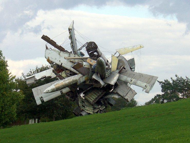 Sculpture park in Unterpremstätten, Austria