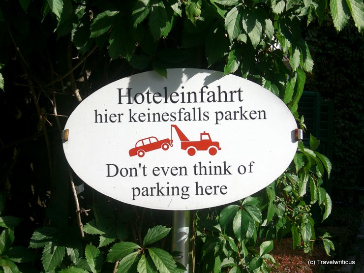 No parking sign in Velden, Austria