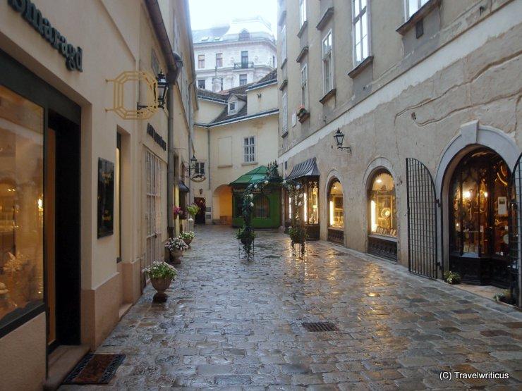 Hidden lane in Vienna, Austria