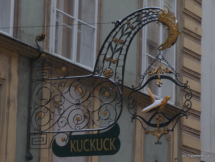 Inn sign of a cuckoo in Vienna, Austria