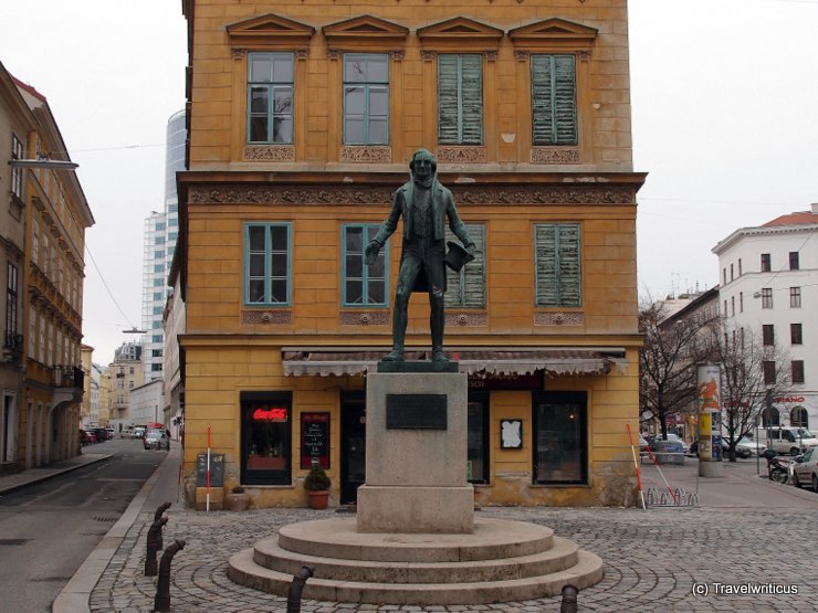 Monument to Johann Nepomuk Nestroy in Vienna